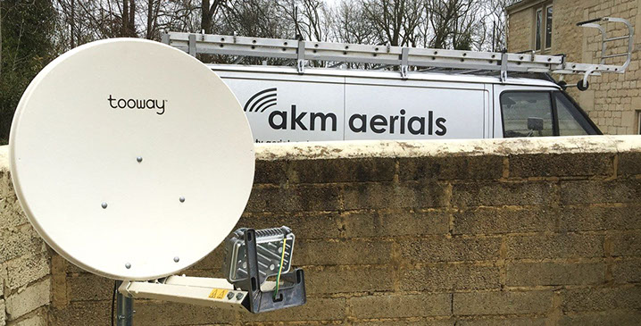 satellite broadband Stonehouse